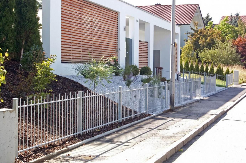 Zaun feuerverzinkt pulverbeschichtet oder in edelstahl - Design gartenzaun ...